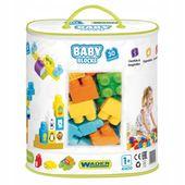 Baby blocks torba 30 szt klocki dla maluszka wader