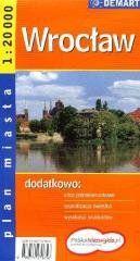 Wrocław. Plan miasta 1:20 000 DEMART praca zbiorowa