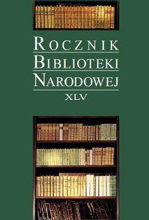 Rocznik Biblioteki Narodowej XLV
