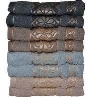 Komplet ręczników kąpielowych 50x100 cm 8 szt. (wzór: kwiaty; kolor: mix)