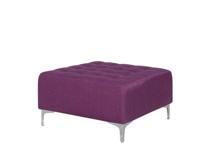 Otomana pikowana pufa podnożek fioletowa