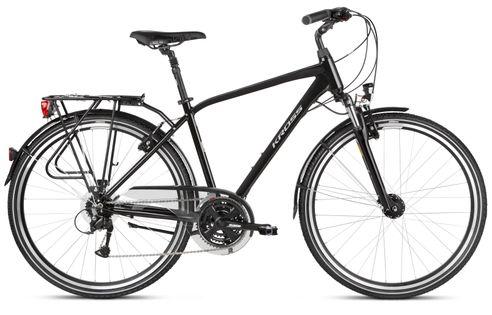 """Kross Trans 4.0 28 L 21"""" rower czarny/szary połysk 12"""