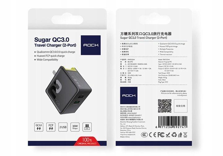 Ładowarka Sieciowa USB ROCK Quick Charge 3.0 30W zdjęcie 5