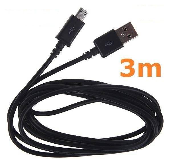Kabel microUSB ładowanie transfer Micro USB 3m na Arena.pl