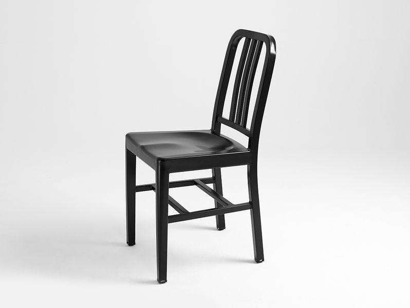 Krzesło Army Czarne Krzesło Metalowe Do Jadalni Styl Industrialny