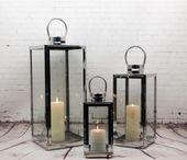 Zestaw Lampionów 3w1 Lampion,Latarnia srebrnych lustrzanych