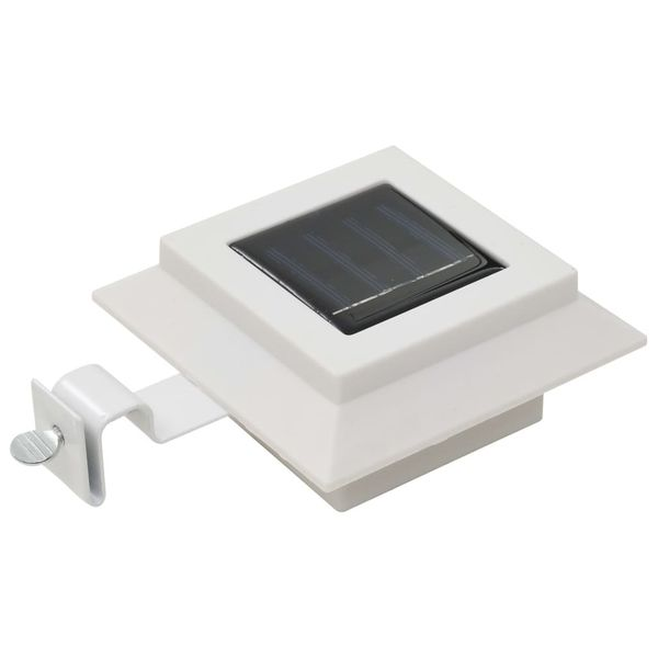 Lampy solarne do ogrodu, 12 szt., LED, kwadratowe, 12 cm, białe zdjęcie 3
