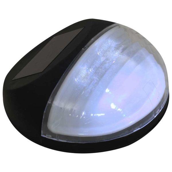 Ścienne Lampy Solarne Led Na Zewnątrz, 12 Szt, Okrągłe, Czarne zdjęcie 6