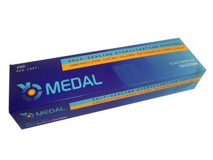 Torebki do sterylizacji 90 x 230 Medal 200 sztuk