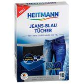 Heitmann jeans-blau chusteczki farbujące do jeansu 10 szt