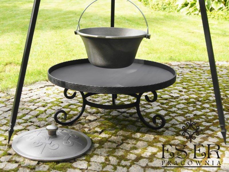 ZESTAW grill palenisko kociołek żeliwny 7l - ES-ER zdjęcie 10