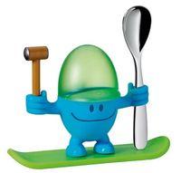 Kieliszek na jajko z łyżeczką niebieski McEgg WMF