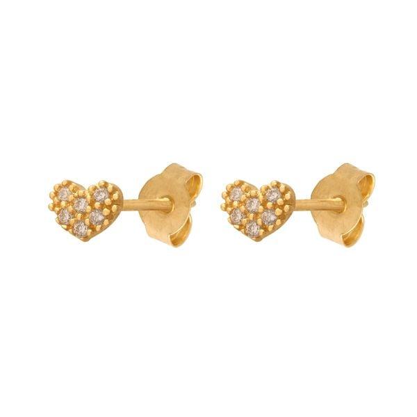 kolczyki złote małe serduszka zdjęcie 1