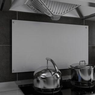 Lumarko Panel ochronny do kuchni, biały, 90x50 cm, szkło hartowane