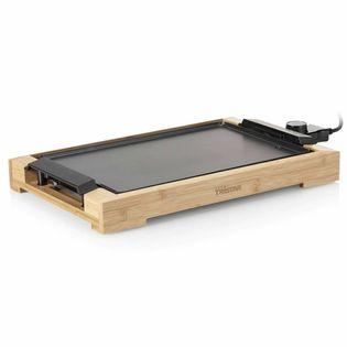 Lumarko Elektryczna płyta grillowa, 2000 W, 37 x 25 cm, bambusowa