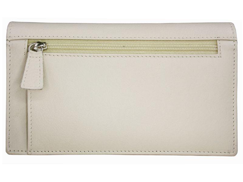 Damski, skórzany portfel w kolorze kremowym Valentini zdjęcie 3