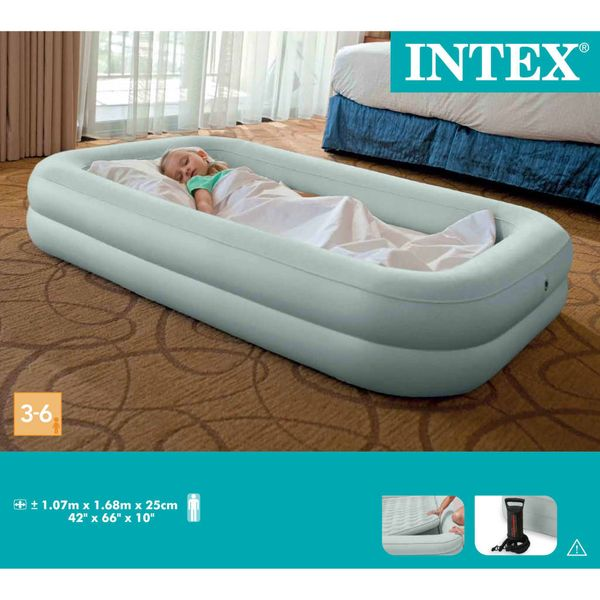 Intex Materac dmuchany Kidz Travel Bed Set, 107x168x25 cm, 66810NP zdjęcie 4