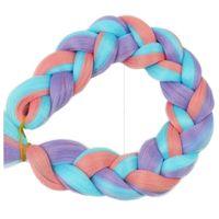 Włosy syntetyczne kolorowe dredy warkocze ombre
