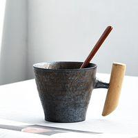 Kubek Ceramiczny Z Ręcznie Wykonaną Rączką - Styl Retro - Klasa i Elegancja Grafitowy 2 200-400ml