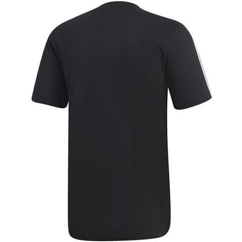 Koszulka męska adidas Essentials 3 Stripes Tee czarna DQ3113 XL zdjęcie 2