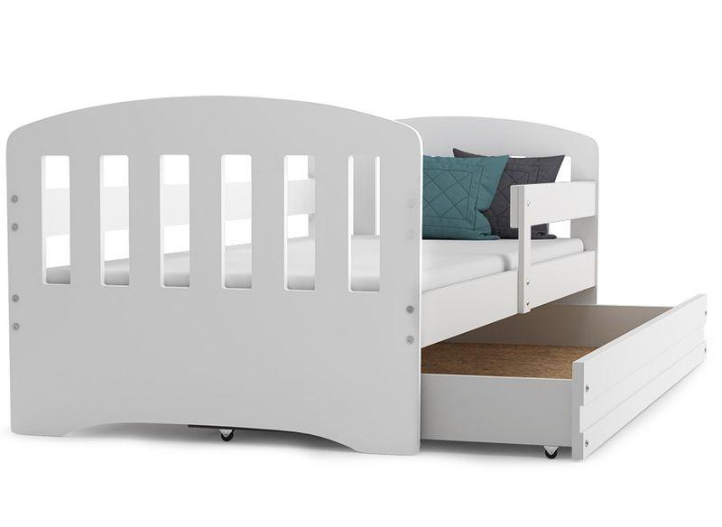 Łóżko dla dzieci HAPPY dziecięce 160x80  + SZUFLADA + MATERAC zdjęcie 1