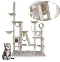 Modułowy drapak dla kota 255CM XXL hamaki domek legowisko BEŻOWY 17034