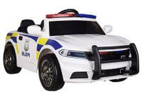 SAMOCHÓD POLICYJNY AUTO POLICJA NA AKUMULATOR C 666 auto na akumulator dla dzieci, koła EVA, Ecoskóra + PILOT /3772