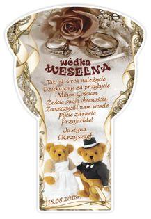 Etykiety naklejki wódka weselna ŻUBRÓWKA