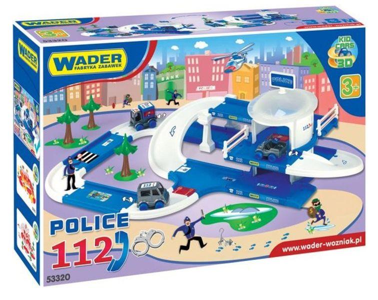 Garaż Parking Policja Zestaw Kid Cars 53320 Wader Arenapl