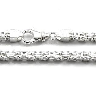 Łańcuch srebrny splot królewski bizantyjski 60 cm