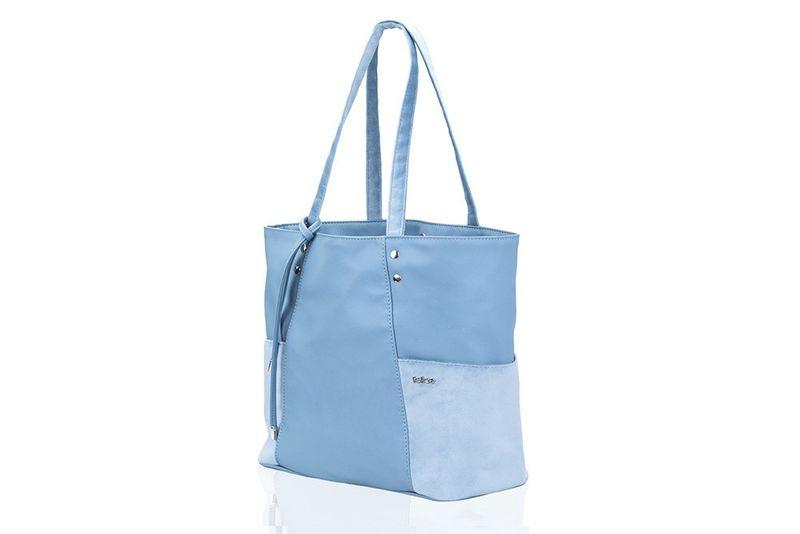 8b2725f129687 Shopperka torebka damska Felice Bonita błękitna skórzana na ramię zdjęcie 1
