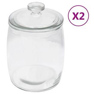 Szklane słoje z pokrywką, 2 szt., 2000 ml