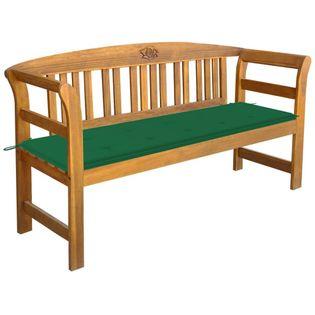 Lumarko Ławka ogrodowa z poduszką, 157 cm, lite drewno akacjowe
