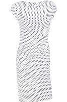 Biała Marszczona Sukienka w Groszki - 34 / XS