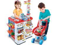 Sklep supermarket STRAGAN kasa dla dzieci + koszyk okazja cenowa
