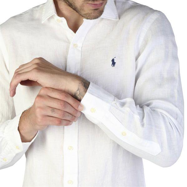Rodzaj: Męska Typologia: Koszula Zapięcie: guzikiprzedni Rękawy: długie Materiał: len 100% Pranie: w temperaturze 40° C Wzrost modelkilub, cm: 189