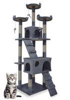 1047 Drapak dla kota 170cm beżowy sizalowe słupki do drapania myszki