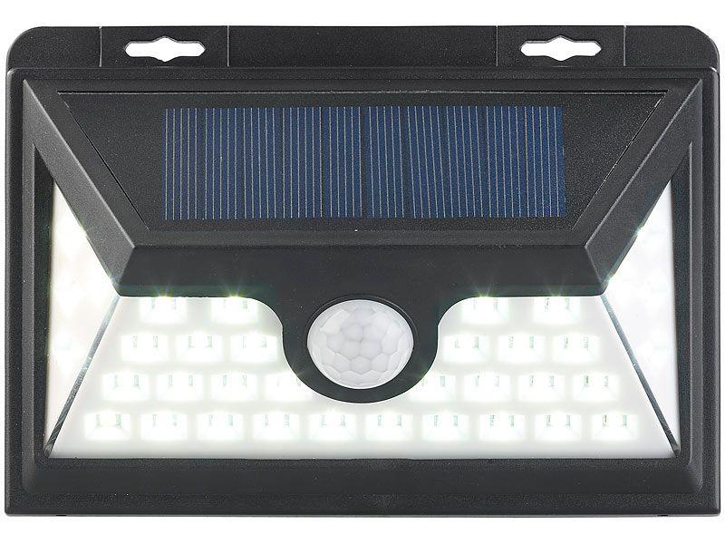 Kinkiet solarny LED z czujnikiem ruchu 350 lm / 7,2 W Luminea WL-735.s zdjęcie 2