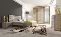 Komplet mebli do sypialni MILI szafa łóżko 160 cm komoda stolik nocny