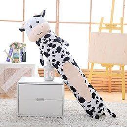 Pluszowa Poduszka Cylindryczna - WAŁEK - HIT Krowa 140cm