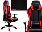 Fotel obrotowy gamingowy KUBEŁKOWY dla gracza PRO-GAMER FALCON CZERWONY