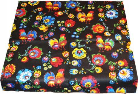 Obrus Bawełniany Folk Kaszubski 140x140 Bawełna