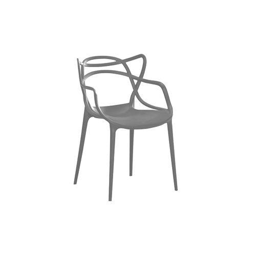 Fotel krzesło master ażur SZARY C-486 na Arena.pl