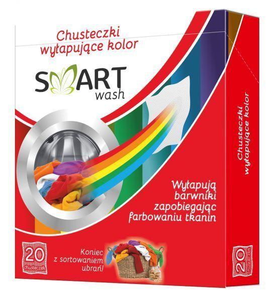 Chusteczki wyłapujące wychwytujące kolor SMART WASH 20 sztuk zdjęcie 1