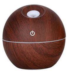 Ultradźwiękowy nawilżacz powietrza - dyfuzor kula (kolor: ciemne drewno)