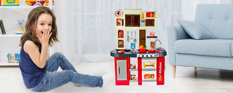 Duża Kuchnia dla dzieci Piekarnik Zlew Akcesoria kuchenne Kran U38 zdjęcie 2