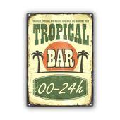 Wydruk na metalu, Retro – tropikalny bar 40x60 zdjęcie 1