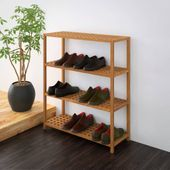 Półka na buty z drewna orzechowego 69x26x81 cm