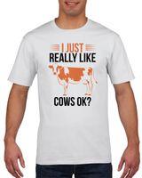 Koszulka męska I just really like cows ok? XXL Biały