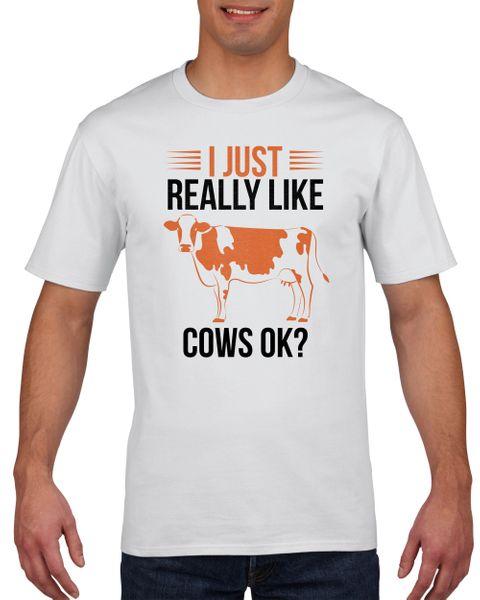 Koszulka męska I just really like cows ok? XXL Biały na Arena.pl